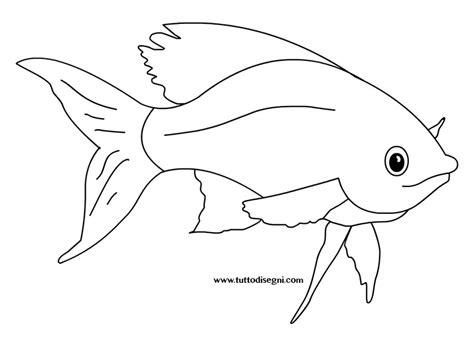 pesce da colorare per bambini pesce tropicale disegni per bambini tuttodisegni
