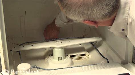 dishwasher repair replacing  piston  nut ge part wdx youtube
