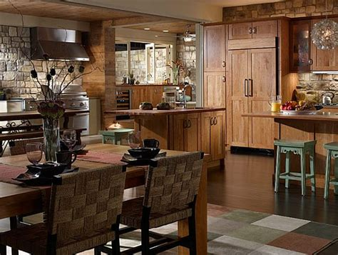 create  rustic kitchen design     stone veneers