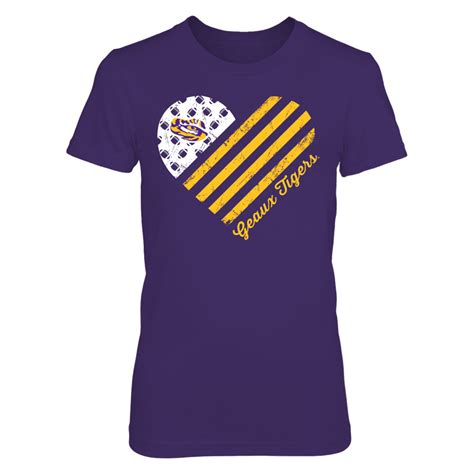 LSU Tigers - Football Flag Heart | Flag football, Lsu ...