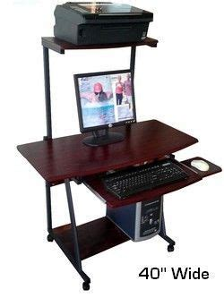 computer desk with hutch and printer shelf s40 40 quot wide mobile computer desk with hutch printer shelf