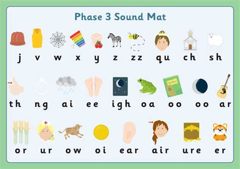phase 3 sound mats free early years primary teaching