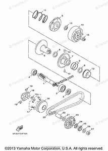 Yamaha Scooter 2008 Oem Parts Diagram For Clutch