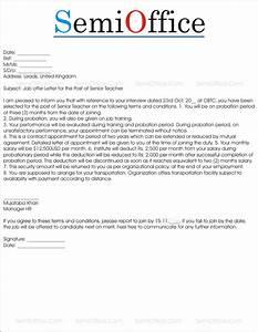 Job Offer Letter Sample From Employer