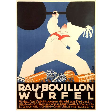 deco posters for sale german deco poster for rau bouillon wurfel 1930 for sale at 1stdibs