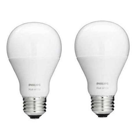 philips 465443 hue white a19 light bulb 2 pack works with