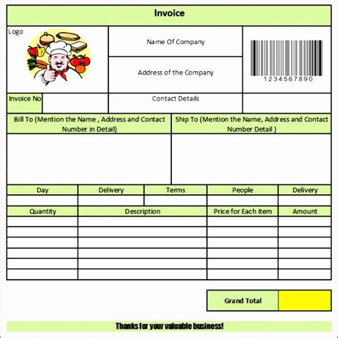 tax invoice template excel exceltemplates