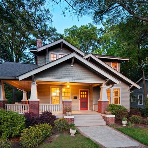 added front porch exterior design ideas pictures remodel  decor house   craftsman