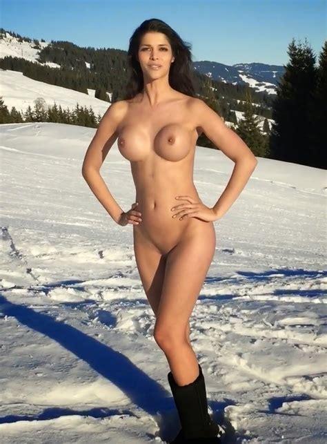 Micaela Schaefer Nude Photos In Public On Snow In Austrias Alps Gutter Uncensored