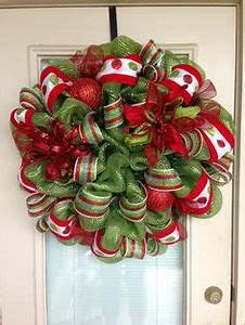 Christmas Mesh Deco Wreath
