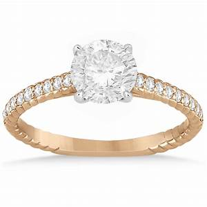 diamond rope engagement ring bridal set 14k two tone gold With create your own wedding ring set