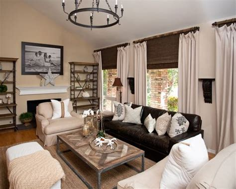 living room decor with leather sofa leather couch living room home design ideas pictures