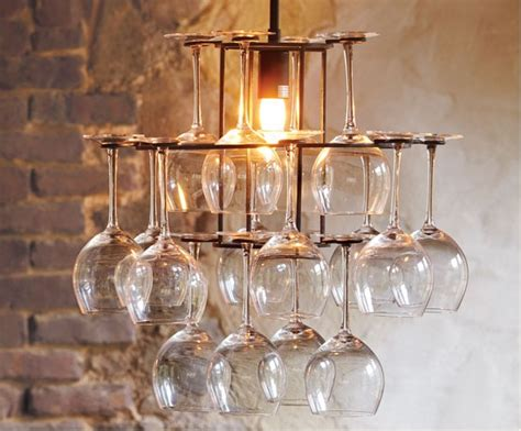 wine glass chandelier diy diy