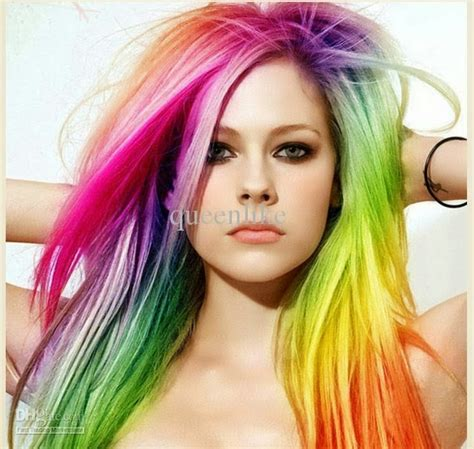 colorful hairstyles hairstyle haircolor style color strange avril lavigne