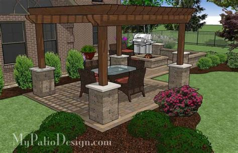 Large Patio Designs by Large Backyard Patio Design With Pergola Built In