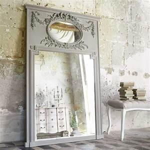 Maison Du Monde Miroir : miroir trumeau en bois gris h 160 cm mirano maisons du monde ~ Teatrodelosmanantiales.com Idées de Décoration