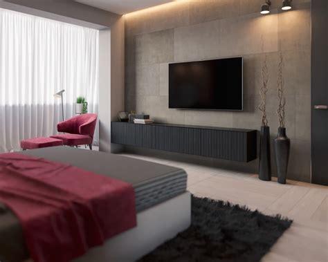 meuble tv chambre chambre grise cosy 6 visualisations à découvrir pour