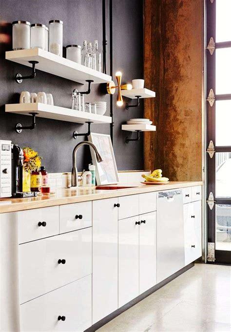 peinture plan de travail cuisine cuisine blanche plan de travail bois inspirations de déco