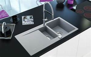 Kitchen: luxury design small granite composite sinks decor