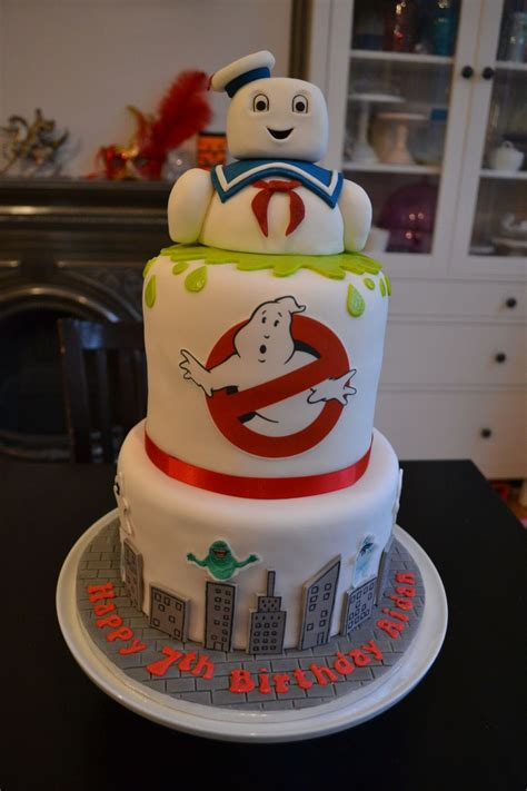 ghostbusters stay puft cake cakecentralcom