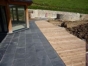 nivremcom terrasse bois de meleze diverses idees de With terrasse en pierres naturelles
