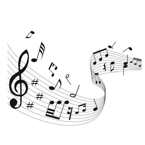Quaver Musical Wave Home Decor Music Notes Wall Stickers