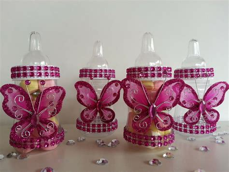 butterfly baby shower favors 12 magenta fillable butterfly bottles baby shower favors