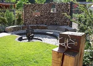 Windfang Selber Bauen : grillplatz anlegen ein familiengarten reihenhausgarten grillplatz mit feuerkorb ~ Whattoseeinmadrid.com Haus und Dekorationen