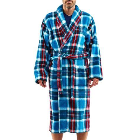 robe de chambre arthur robe de chambre arthur en polaire à carreaux bleu canard