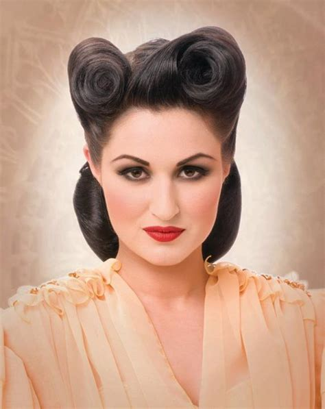 1940s Victory Rolls Hairstyles 25 vintage victory rolls from 1940 s any can copy