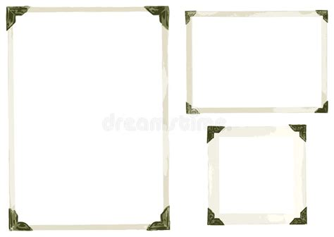 Old Photo Corners Vector Stock Vector Illustration Of