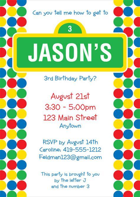 sesame invitations template custom sesame birthday invitations drevio invitations design