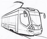 Tram Drawing Getdrawings Transport Electric sketch template