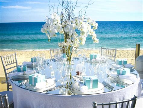 beach centerpieces  wedding reception wedding