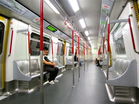 MTR - Metro - Subway - Hong Kong | MTR - Empty MTR car in ...