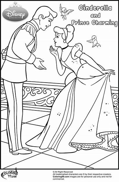 Cinderella Prince Coloring Pages Charming Responsibility Request