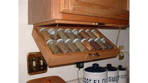 creative kitchen storage idea  cabinet spice rack youtube