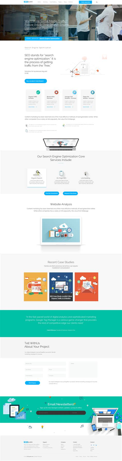 search engine optimization agency seo quake seo digital marketing agency psd template