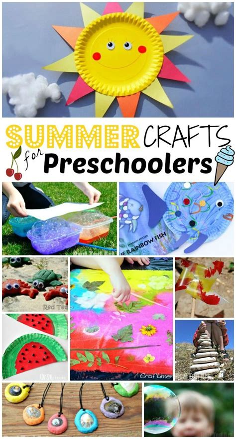 47 summer crafts for preschoolers to make this summer 603 | b06d5c12cc9063a29b5462fdc5eb7f1c