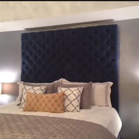 tufted velvet headboard king legs