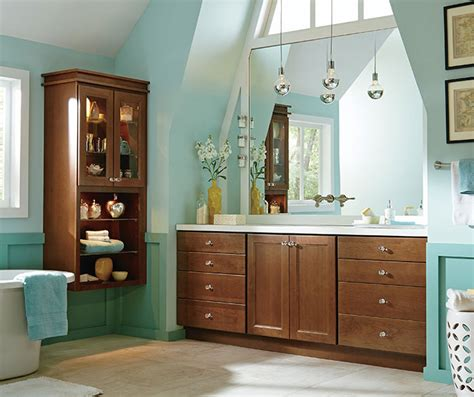 Cherry Cabinets In A Casual Bathroom Masterbrand