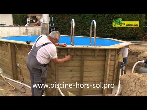montage piscine bois ubbink octogonale allong 233 e