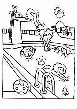 Swimming Coloring Pool Coloriage Piscine Ausmalbilder Kinder Colouring Printable Sheets Pools Beau Malvorlagen Schwimmbad Zum Ausmalen Schwimmen Ausmalbild Gemerkt Malvorlage sketch template