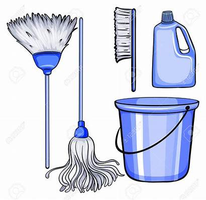 Cleaning Tools Clipart Utensils Illustration Kind Different
