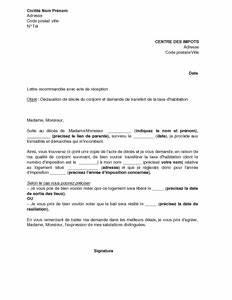 Lettre Deces : lettre de d claration de d c s du conjoint et demande de transfert de la taxe d 39 habitation ~ Gottalentnigeria.com Avis de Voitures
