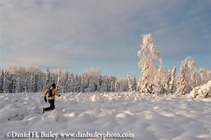 Winter Trail Running Photo Shoot At 10 Below Zero  Alaska