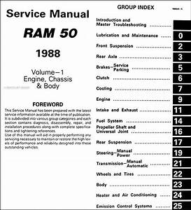 1988 Dodge Ram 50 Truck Repair Shop Manual Original 2 Volume Set