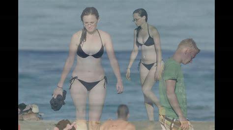 Alexis Bledel Hidden Camera Beach Bikini Almost Nude Youtube