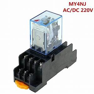 Aliexpress Com   Buy Time Relay 220v    240v Ac Coil 4pdt Power Relay My4nj Hh54p L 14 Pin W