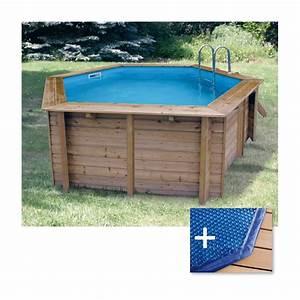 Piscine Hors Sol Plastique : piscine bois ubbink azura diam 410 cm x cm mypiscine ~ Premium-room.com Idées de Décoration